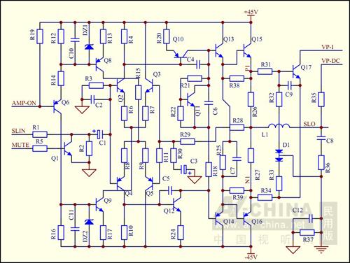 80稳压电路图_简易音响功放电路图